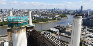 Work Starts On Dismantling Battersea Power Station Chimney