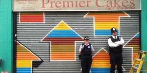 Street Artist Paints 46 Shop Shutters In 48 Hours