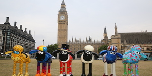 Ewe-nique Shaun The Sheep Art Trail Heading To London