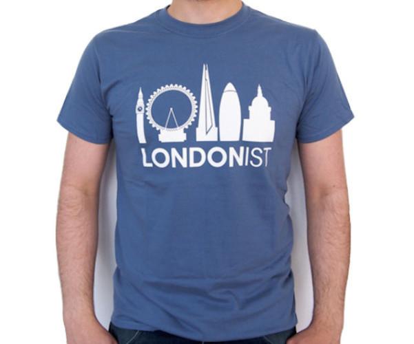 Londonist indigo blue t-shirt.