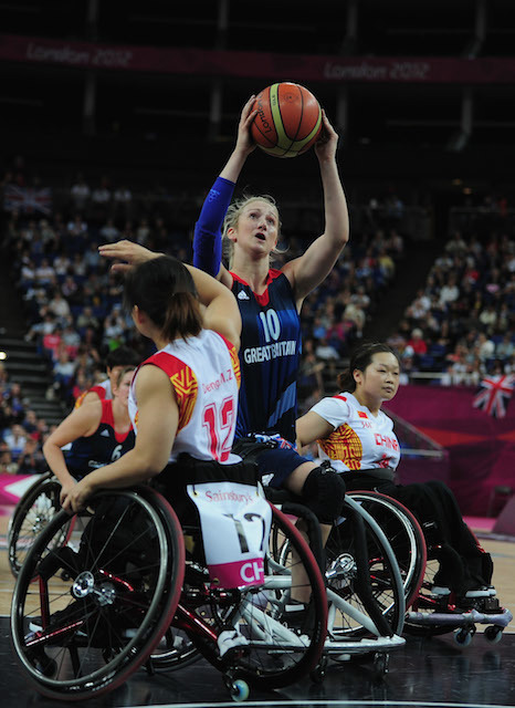 on day 8 of the London 2012 Paralympic Games at Basketball Arena on September 6, 2012 in London, England.