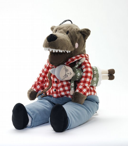 Soft toy wolf Lufsig 2013 Designed for and manufactured by Ikea Photo (c) Victoria and Albert Museum, London