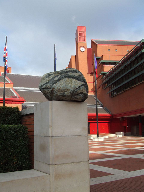 'Planets' can be found outside the British Library. Eight stones from different Ice Ages are embossed with the outline of human bodies. It was installed in 2002.
