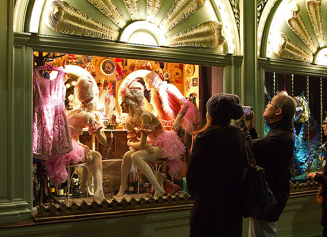 A display of extravagance, near Piccadilly Circus, by Chris Beckett.