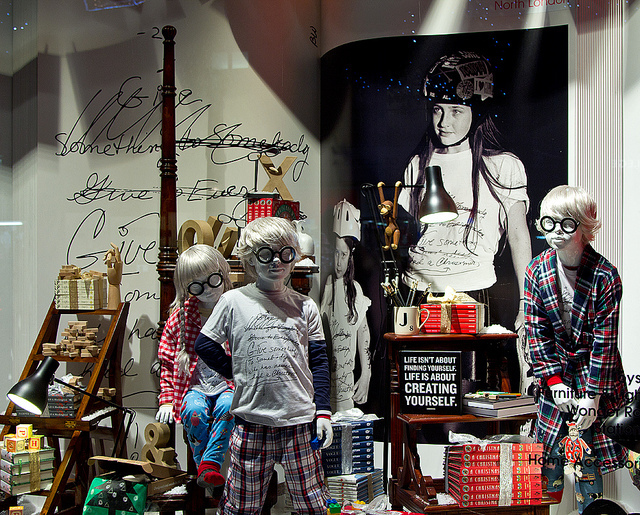 More Harry Potters than you can shake a wand at, in Selfridges, 2012. Photo by Chris Beckett.