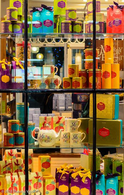 Tea shop window, by Theunis Viljoen.