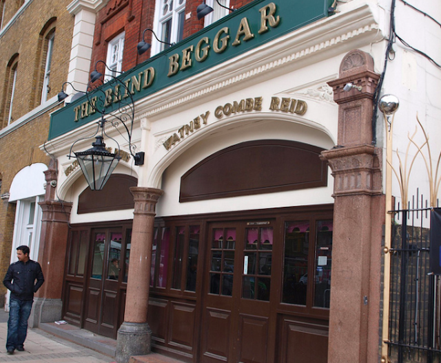 The Blind Beggar in Whitechapel, infamous drinking (and killing) den of the Kray Twins. © photo by PastLondon