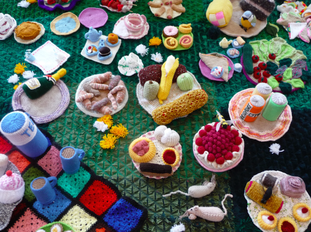 Life Sized Knitted Garden Comes To North Finchley Londonist