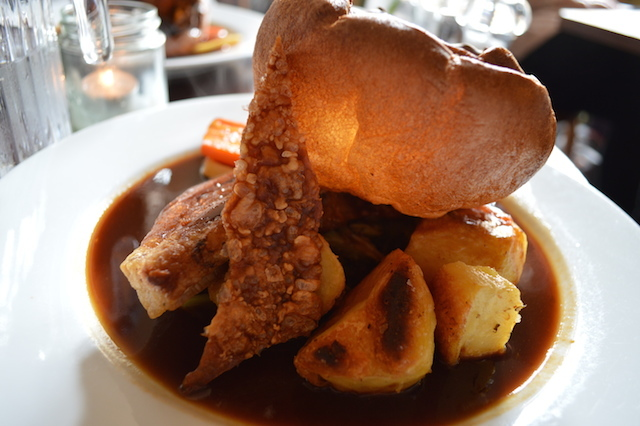 Stupendous roast. Trust us - there are non-brown vegetables under there somewhere.