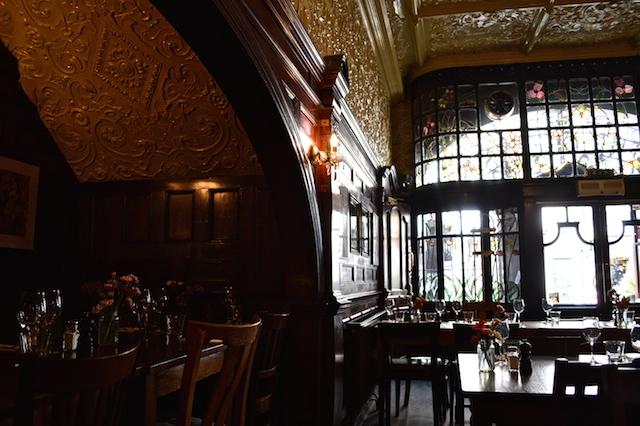 Some pub restaurants leave us cold, but this one is so ornate that you want to lick it. OK, perhaps you don't. But, still. Wow.