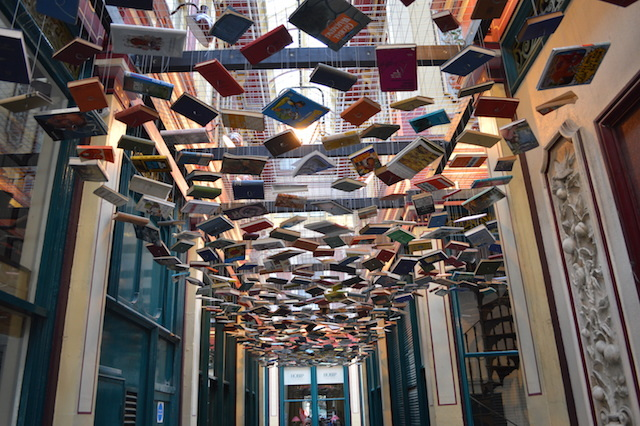 Another highlight sees Richard Wentworth dangle a library of books from the ceiling of Leadenhall Market. All very Harry Potter.
