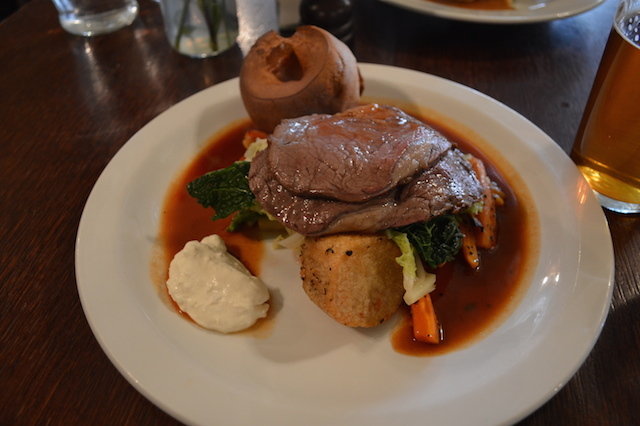 The beef was mighty fine, but the real star is that magical red wine gravy.