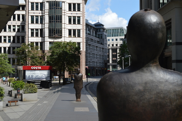 One of Gormley's earliest figure pieces, Parallel Field, is currently on temporary exhibition on St Mary Axe in the Square Mile.