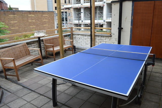 Terrace table tennis. Try saying that after three alcoholic slush puppies.