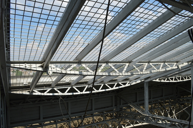 A large section of the roof is retractable.