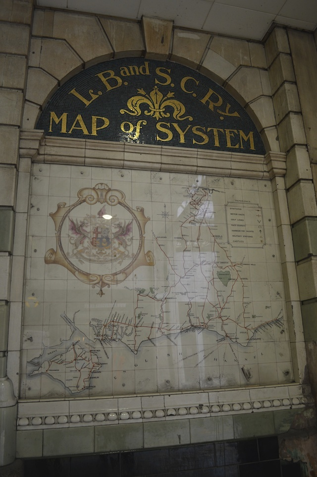 Look out for these glazed-tile route maps, often missed in the main station entrance. These were uncovered relatively recently, having previously been concealed by phone kiosks.