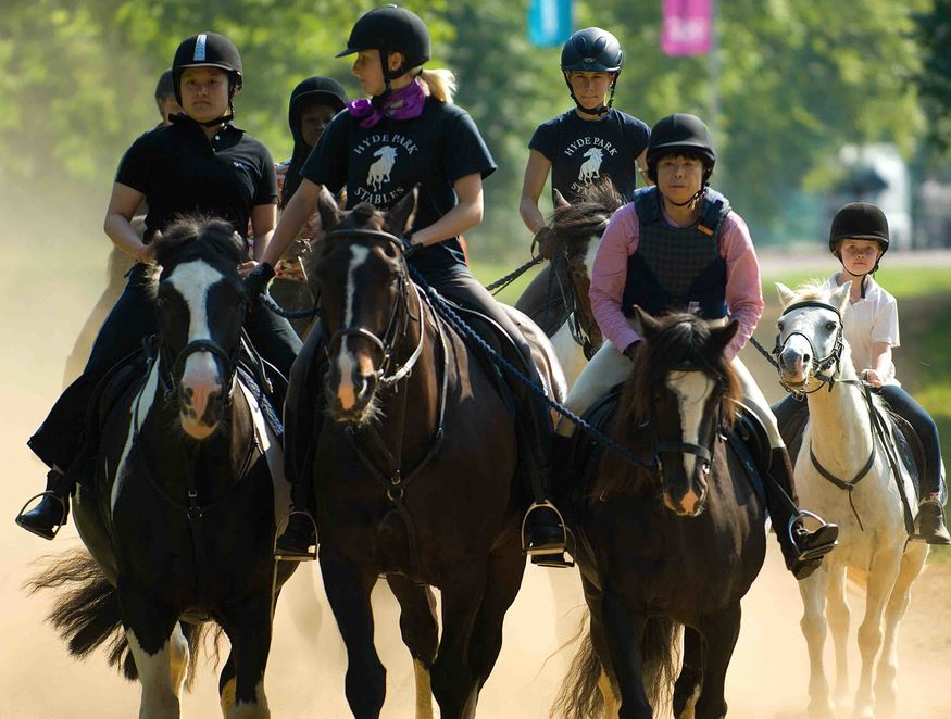 Hyde Park horse riders.
