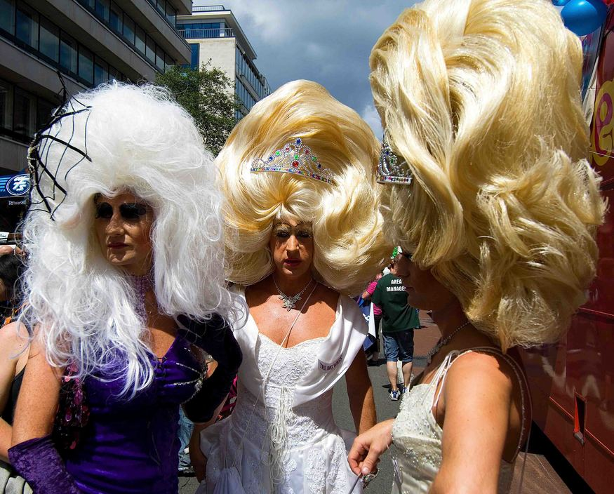 Drag queens at Pride.