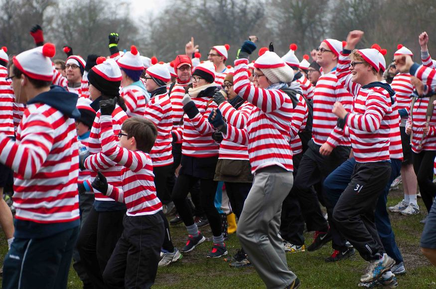 """I'm Wally!"" ""I'M Wally!"" etc"