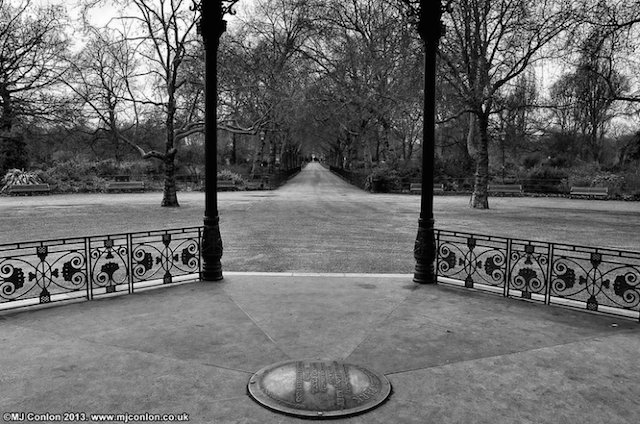 The view of Central Avenue from the bandstand in Battersea Park, by MJ Conlon