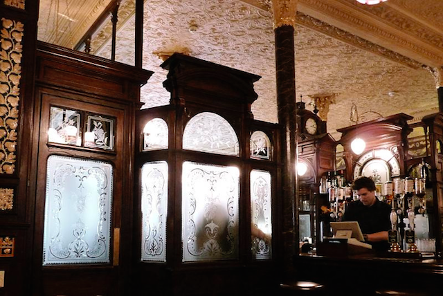 The gin palace interior of the Princess Louise in Holborn. By Shehani