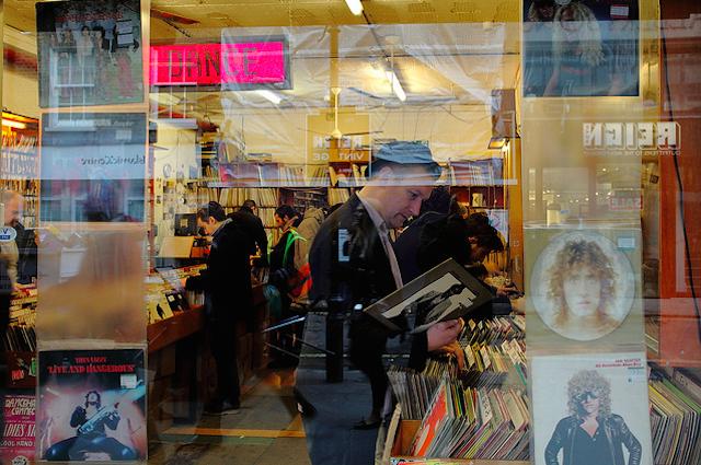 Vinyl hunting, by Paul Steptoe Riley.