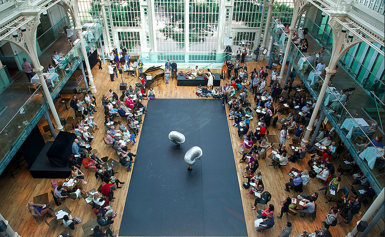 Giant Slinkies in the Paul Hamlyn Hall for Ignite 2013 (photo Elliots Franks).