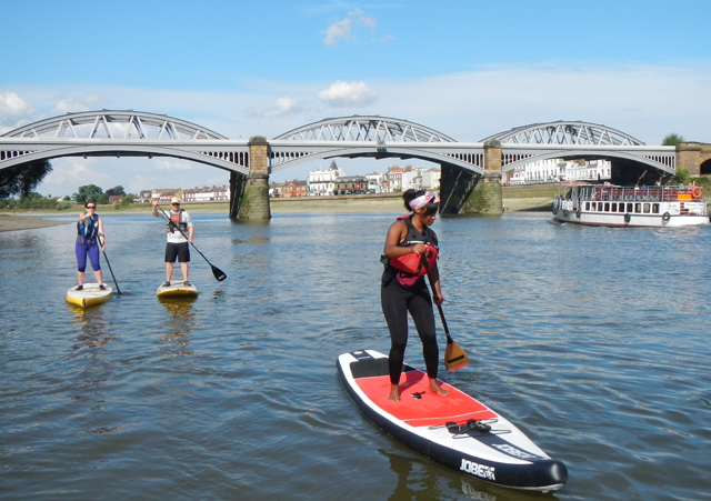 Paddle boarding in The Thames