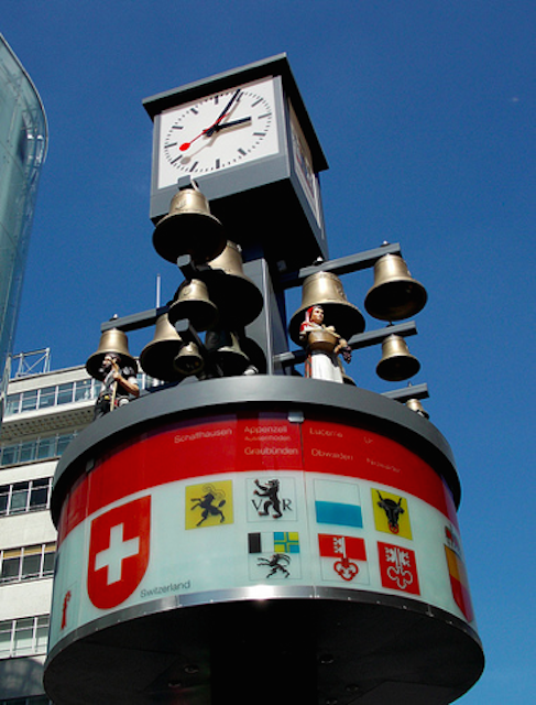 The Swiss Clock and Glockenspiel in Leicester Square originate from the Swiss Centre, which until very recently stood where M&Ms World does now. When the Swiss Centre was demolished in 2008, the original clock sadly went with it. But in 2011, Westminster Council rebuilt the glockenspiel just a few metres from where it originally stood, along with a restored clock, which is now controlled remotely from Derby. Every hour, the figurines, representing traditional Swiss farmers, move.