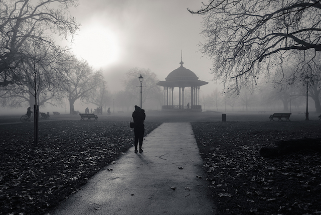 Fog over Clapham Common by Torsten Reimer
