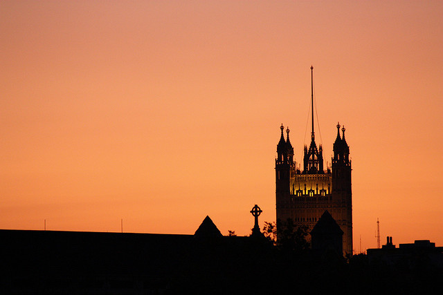 Sky over Westminster's Victoria Tower, by Zegrographica