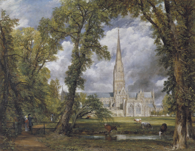 Salisbury Cathedral from the Bishop's Ground, Oil on canvas  John Constable 1823   © Victoria and Albert Museum, London