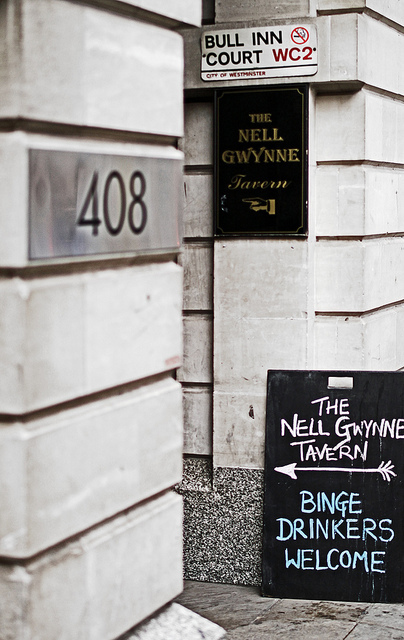 At least they're honest. The Nell Gwyne off Strand, by Mark Baynham in the Londonist Flickr pool.