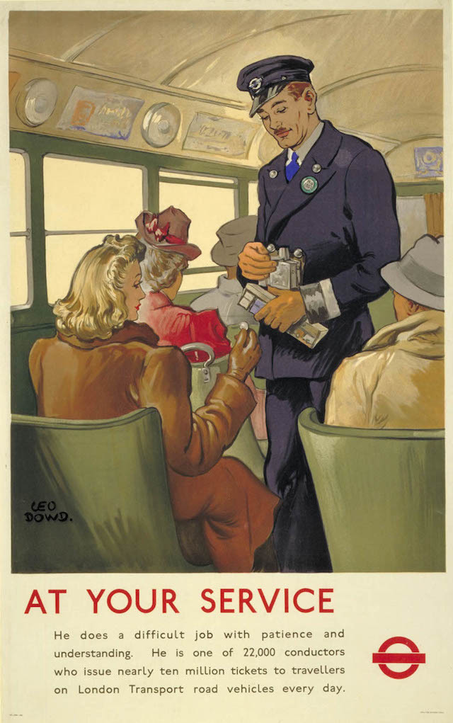 At Your Service Bus Conductor, by Leo P Dowd, 1947