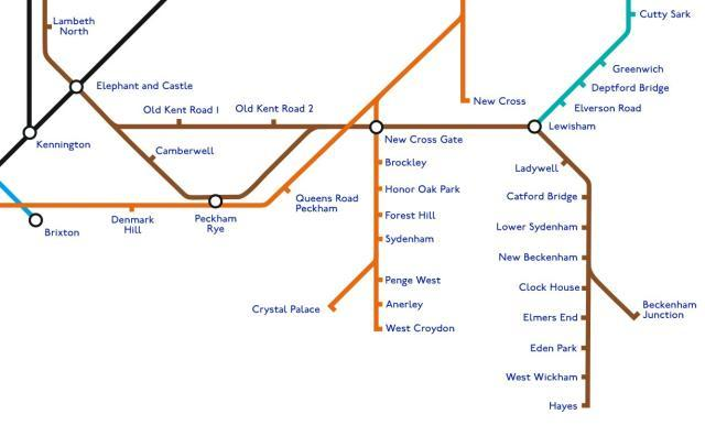 How the tube map could look, by Geoff Marshall