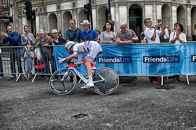 Bradley Wiggins in the Tour of Britain, photo by Massimo Usai