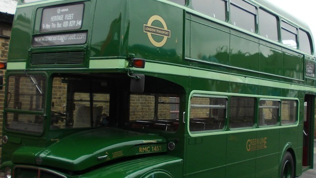 Green Routemaster bus