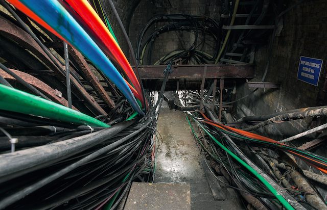 Colour-coded cables.