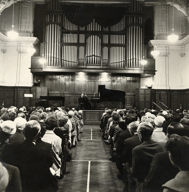 Dame Myra Hess in Great Hall (1953)