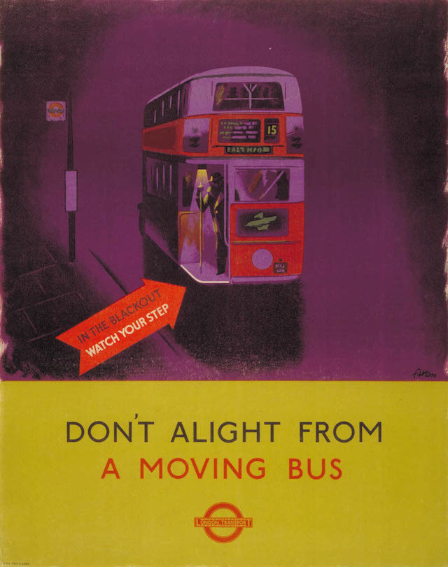 Don't Alight From A Moving Bus, by James Fitton, 1941