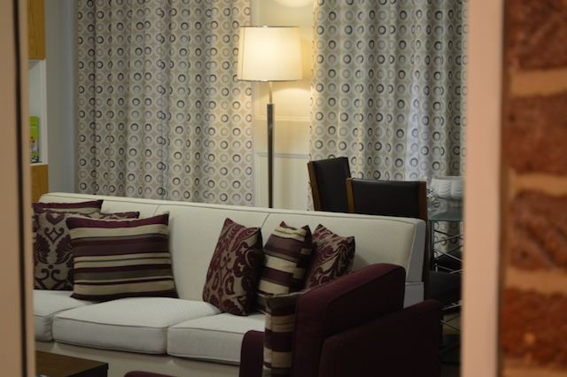 Inside one of the serviced apartments.