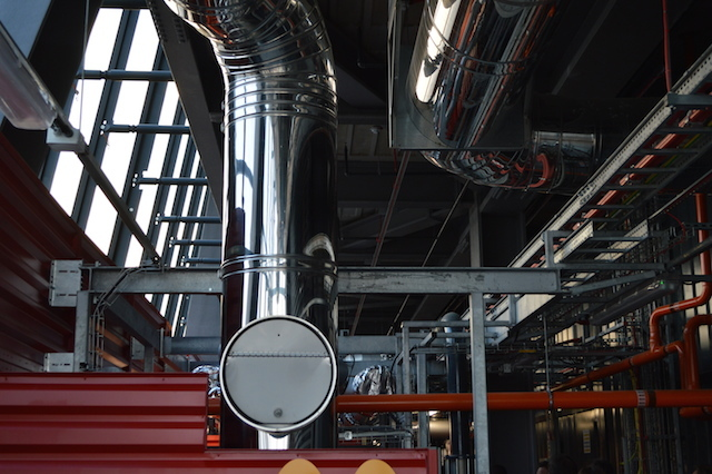 Even the service ducts are beautifully designed, engineered and polished.
