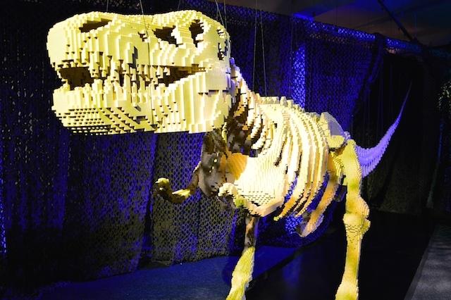 Dinosaur skeleton. We dubbed him Tyrannosaurus Brix.