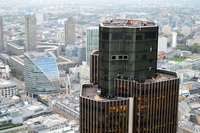 Tower 42, once the capital's tallest building, is humbled.