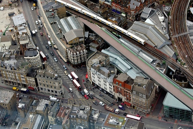EZTD looks down into Borough Market from a vantage point up the Shard.
