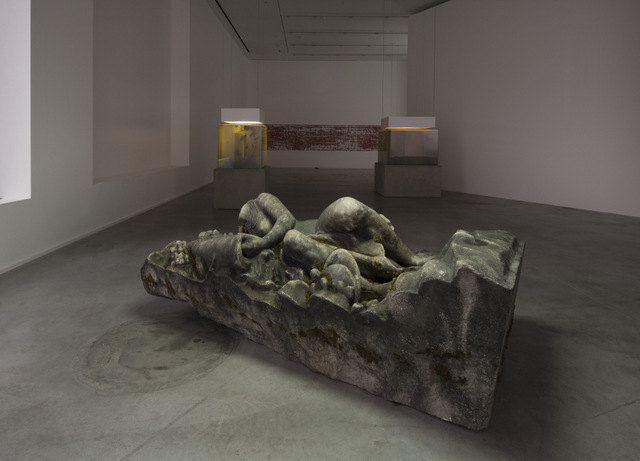 Installation view, 'Pierre Huyghe. IN. BORDER. DEEP', Hauser & Wirth London, 2014 © Pierre Huyghe, courtesy the artist and Hauser & Wirth. Photo: Hugo Glendinning