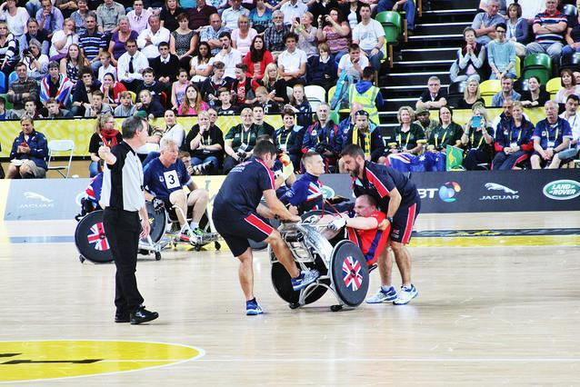 Wheelchair rugby at Invictus Games, photo by Gary Etchell