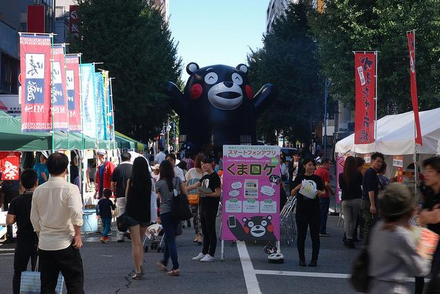 Kumamon in his home town of Kumamoto. Photo by Tom Royal, used with permission.