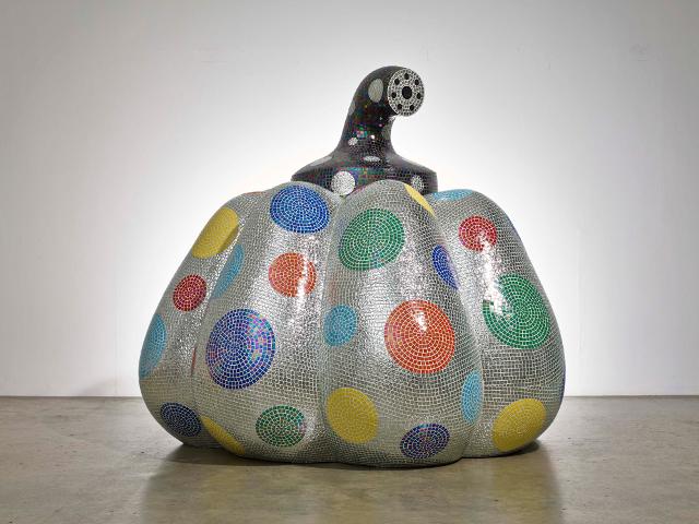 Kusama (2014) Starry Pumpkin Silver. (Photo: Victoria Miro Gallery)