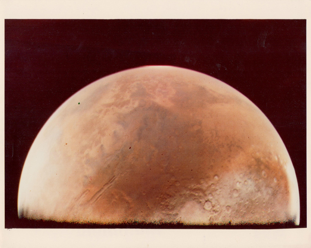 Martian hemisphere, Viking 1 Orbiter, June 1976, NASA, BREESE LITTLE